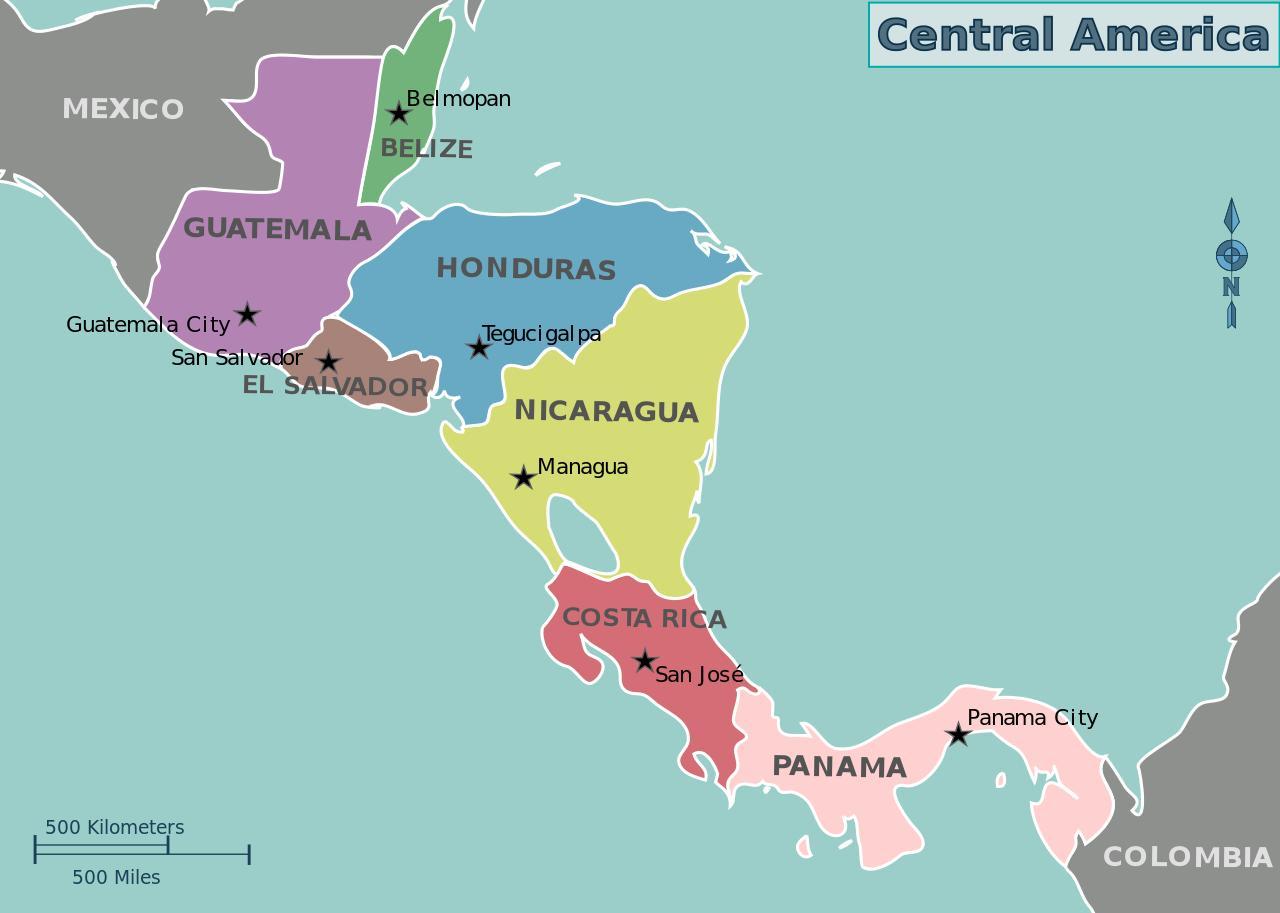 Harta Harta America Centrala
