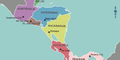 Honduras Hartă Hărți Honduras America Centrală America